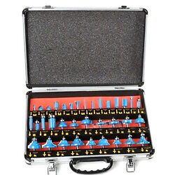 35pc 1/4 Shank Router Bit Set Tungsten Carbide Tip Router Bits Woodworking Tool