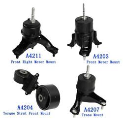 Engine Motor And Trans Mount Set 4pcs W/ Auto Trans For 02-06 Toyota Camry 2.4l