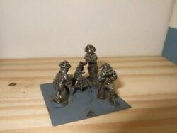 Lancer Ww2bn06 20mm Diecast Wwii Normandy British 3' Mortar And Crew With Ammo Box