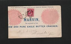 Marvin Eagle Eagle Butter Cracker Pittsburgh 1891 Old Abe Cover And Billhead5r