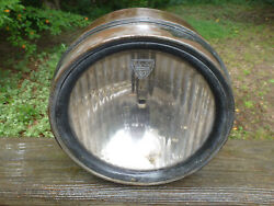 1920and039s 1930and039s Maxwell Headlight And Original Spreadlight Glass Lens 9 Wide Drum