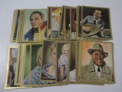 1936 German Cigarette Tobacco Movie Star And Glamour Cards 44 Card Lot
