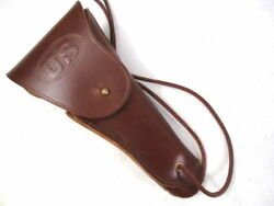 Wwi Us Army M1916 Premium Leather Holster Colt 45 M1911 Pistol Dated 1917 Repro