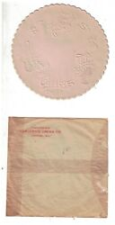 7 Vintage 6 Inch Nos Embossed Paper Doilies Carver Ice Cream Oshkosh, Wi