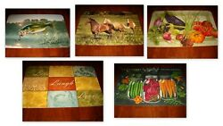 4 Vinyl Placemats 11andrdquo X 17andrdquo Counter Art Microban 6 Designs Your Choice New