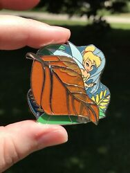Disney Store Park Pack Pin-peter Pan—tinker Bell Leaf-gold Metallic Glass-le500