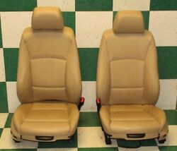 06-11 3 Series Pair Tan Leather Dual Power Buckets Seats Side Air Bags Headrest