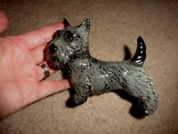 Vintage Goebel W Germany Scotty Dog Scottish Terrier Blue Gray Glazed Figurine