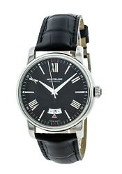 New 4810 42mm Auto Black Dial Lthr Strap Menand039s Watch 115122