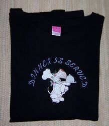 Scottie Scotty Dog LS Black Ladies Tee