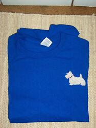 Scottie Scotty Dog LS Royal Blue Adult Tee