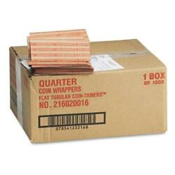 2pk Coin-tainer Pop-open Paper Coin Wrappers Quarters 1,000 Ct. Free Shipping