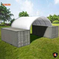 26 X 20 Ft Shipping Container Canopy / Shelter Shed - Galvanised Steel Frame