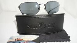 Blinde New The Matrix Agent Smith Black Black Sunglasses Made Japan 4004-1