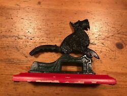 Scottish terrier Scotty nut cracker holiday red black cast iron