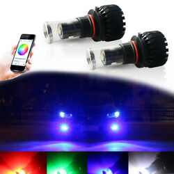 Multi-color Smart Phone Remote 9005 Hb3 Led Decoration Bulbs Fit Driving Lights