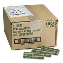 2pk Coin-tainer Pop-open Paper Coin Wrappers Dimes 1000 Ct. Free Shipping