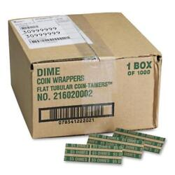 2pk Coin-tainer Pop-open Paper Coin Wrappers Dimes 1,000 Ct. Free Shipping