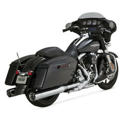 Vance And Hines 450 Slip-ons Chrome For Harley - Davidson Touring 95-16