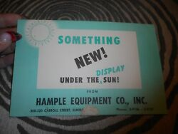 Vintage Flyer Hample Equipment Co Inc Store Displays And Shelves
