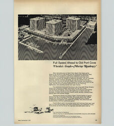 1970 Paper Ad Old Port Cove North Palm Beach Florida's Condo Marine Residency