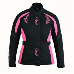 LADIES MOTOEBIKE MOTOECYCLE SCOOTER NEW BODY PROTECTIVE PINK JACKET