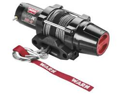 Warn Vrx 3500lb Winch With Syn Rope And Mount - 2009-2013 Suzuki 500 Kingquad 4x4