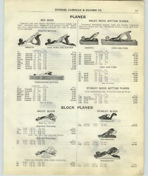 1917 Paper Ad 9 Pg Stanley Bailey Bed Rock Planes Ohio Wood Wooden Clean Cut