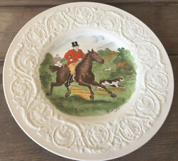 Wedgwood Dinner Plate Patrician England The Hunt Full Cry Hunting Horses Rare