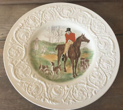 Wedgwood Dinner Plate Patrician Uk The Hunt Master Of Hounds Hunting Horse Htf