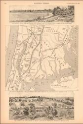 New York City Map Site Search For Expo Details Antique Engraving 1889
