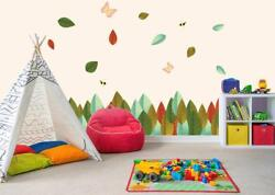 AUTUMN Leaves Butterfly Border Decal Removable Wall Sticker Kids Decor Art WC147