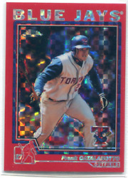 2004 (BLUE JAYS) Topps Chrome Red X-Fractors #201 Frank Catalanotto