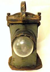 1913 The Hubbell Lamp Mining Lantern Portable Electric Safety Light Co Newark Nj