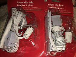 Single Socket Light Cord Lot Of 2 Great For Dept 56 Lemax Village Buildings New