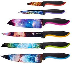 Unique Gifts For Men and For Women - 6-Piece Colorful Cooking Chef Knives Set