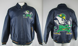 Notre Dame Fighting Irish Men's G-iii Big And Tall Authentic Leather Jacket