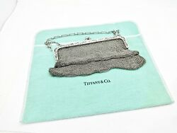 VINTAGE TIFFANY & CO. FRANK MAY STERLING SILVER MESH EVENING BAG WCHAIN HANDLE