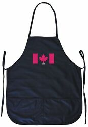 Canada Flag Logo Cooking Apron With Pockets