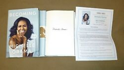 New Signed Michelle Obama Becoming Hc Dj 1/1 Flotus Memoir Barack First Lady Usa