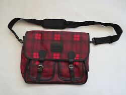 Pleasant Doll Company red plaid messenger side bag adult size promotion school