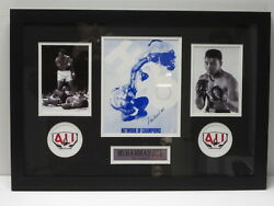 Muhammad Ali Signed Autographed Hbo 8x10 Photo Matted Framed W/ Photos Paas Coa