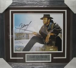Clint Eastwood Autographed Framed The Good Bad And Ugly 11x14 Photo Psa/dna Coa