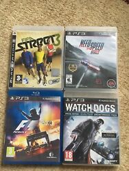 Watch Dogs, Fifa Street3, Need For Speed, Formula 1 For Ps3