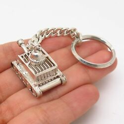 925 Sterling Silver Tank Design Key Chain $66.99