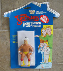 RARE NEW ON CARD WWF HULK HOGAN Wrestling Light Switch Cover Plate VINTAGE 1985