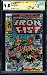 IRON FIST #14 CGC 9.8 WHITE PAGES SS STAN LEE 1ST APP OF SABRETOOTH #0351064001