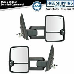 Towing Mirror Upgrade Power Folding Signal Blind Spot Chrome Pair For Tundra New