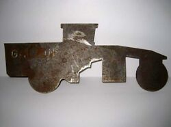 Galion Iron Works ® Ohio - Cut Out Steel Grader Advertising 12 Flat Model Plate