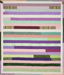 Colorful Bars Crib Quilt Modern Design... Great Wall Hanging